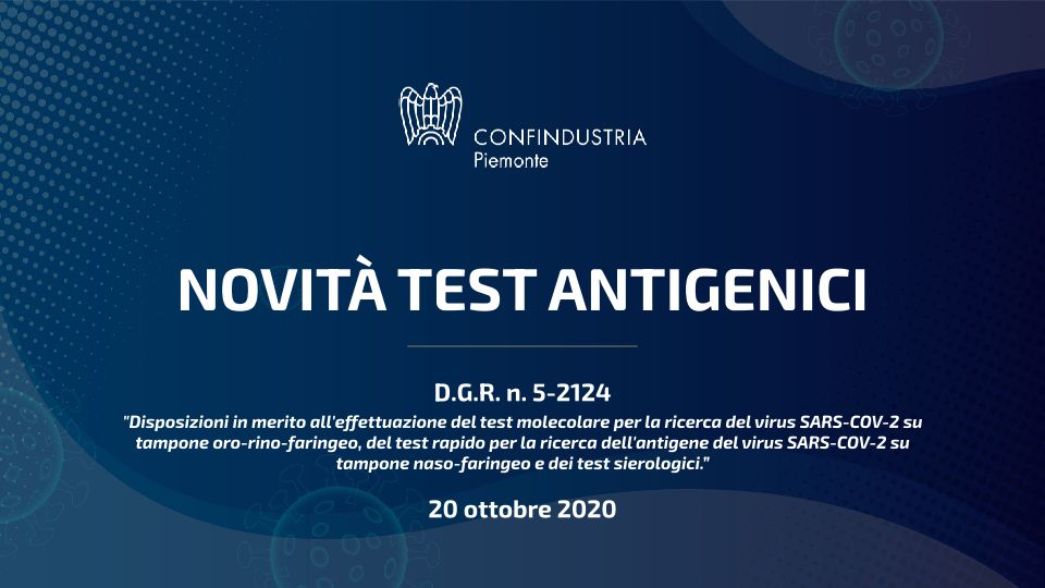 Novità test antigenici sintesi